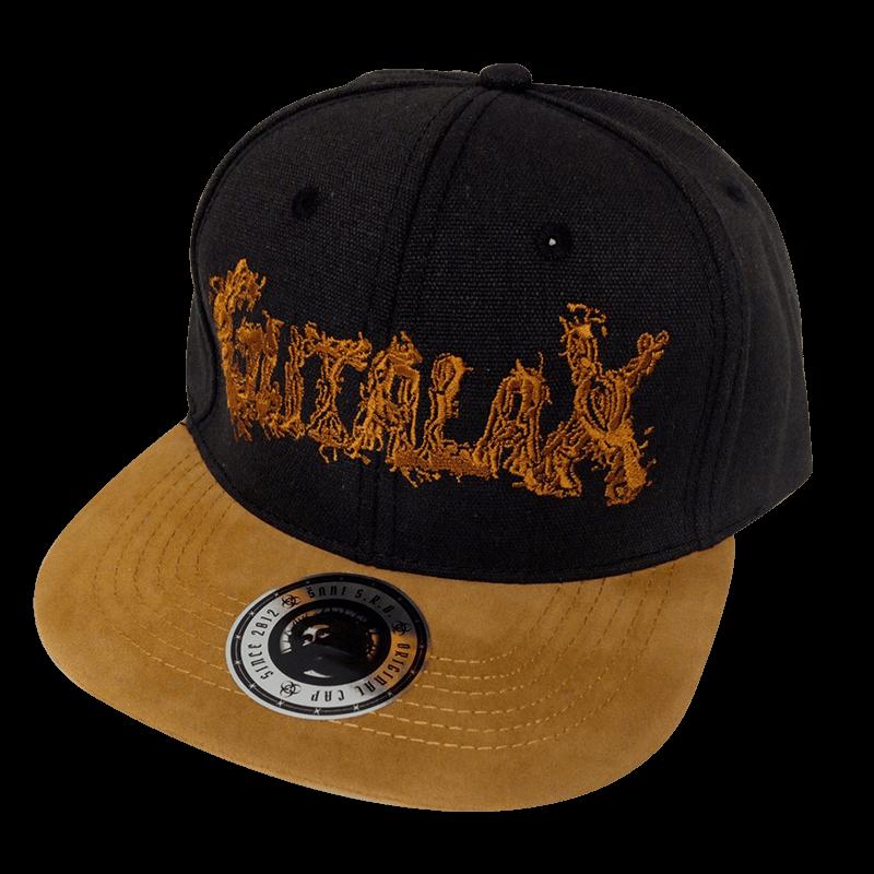 Výšivka – Černá kšiltovka kapely Gutalax
